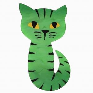 broche chat mystery vert