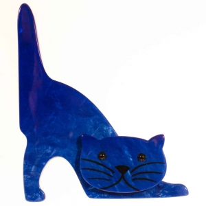 broche chat nino bleu