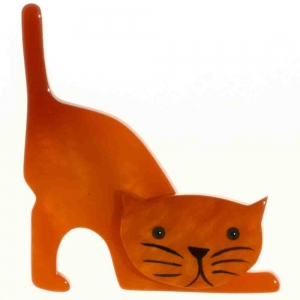 broche chat nino orange