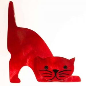 broche chat nino rouge