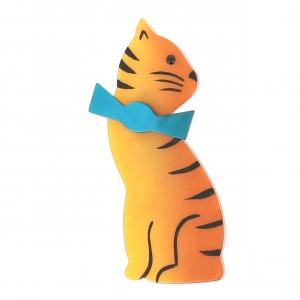 broche chat noeud jaune 1