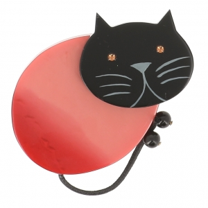 broche chat oeuf rose 1