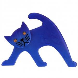 broche chat ouistiti bleu
