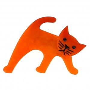 broche chat ouistiti orange