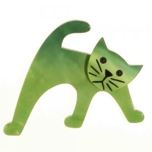 broche chat ouistiti vert