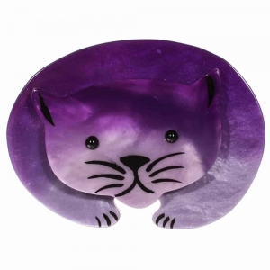 broche chat ours lilas