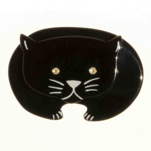 broche chat ours noir