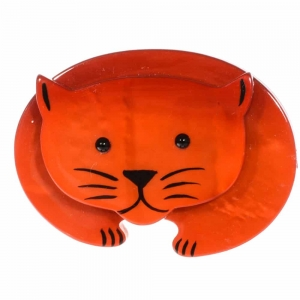 broche chat ours roux