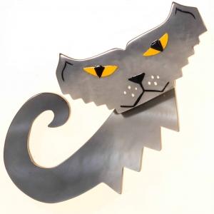 broche chat petrus gris 2