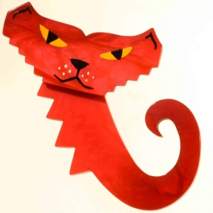 broche chat petrus rouge 2