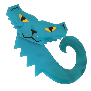 broche chat petrus turquoise 0000