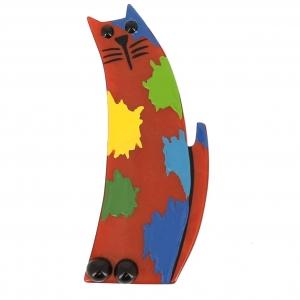 broche chat pollock roux