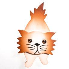 broche chat roc beige