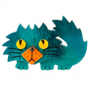 broche chat rocky turquoise