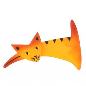 broche chat ruse jaune