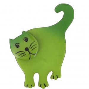 broche chat serpolet debout vert