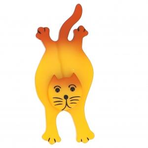 broche chat serpolet jaune