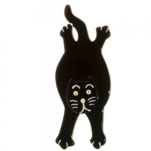 broche chat serpolet noir