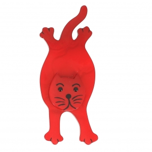 broche chat serpolet rouge