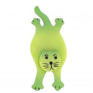broche chat serpolet vert