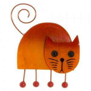 broche chat shabanou orange