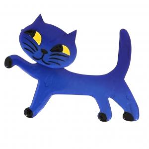 broche chat titi bleu