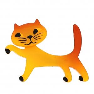 broche chat titi jaune