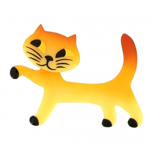 broche chat titi jaune clair