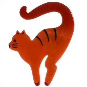 broche chat violoncelle violoncelle roux