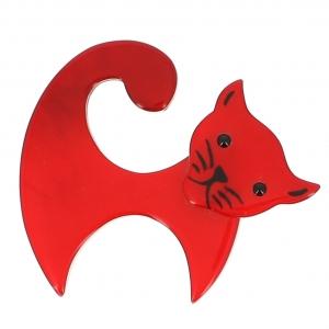 broche chat virgule rouge 0000