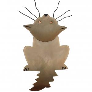 broche chat zénith beige