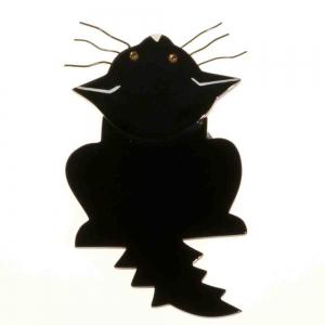 broche chat zenith noir