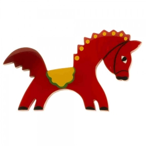 broche cheval circus rouge