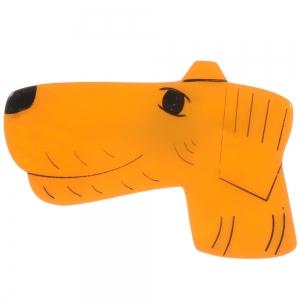 broche chien fox jaune 1 1