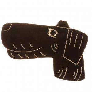 broche chien fox noir 1