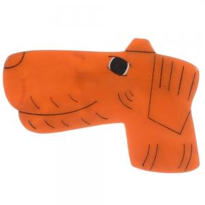 broche chien fox roux 1
