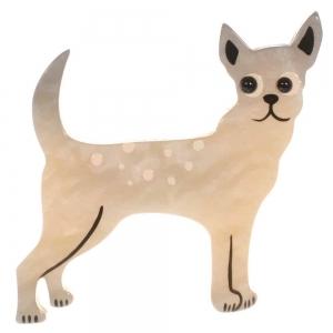 broche chien honoro blanc