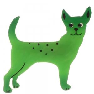 broche chien honoro vert