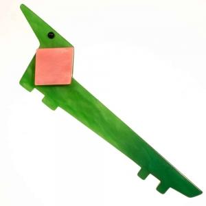 broche chien lola vert