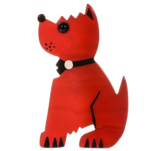 broche chien toy rouge 1