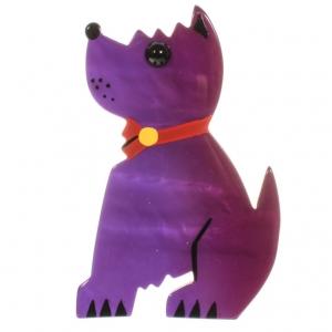 broche chien toy violet 2