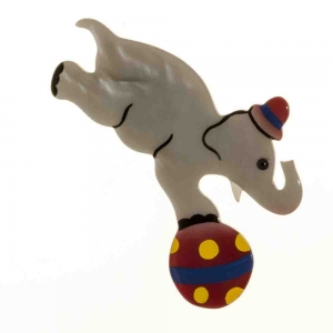 broche elephant circus agate