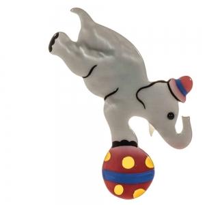 broche elephant circus gris