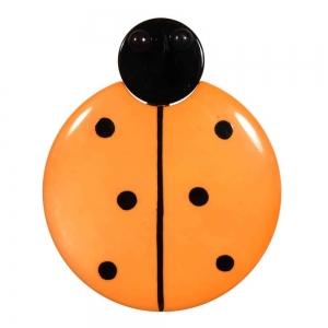 broche grande coccinelle orange 1