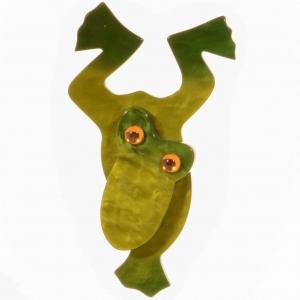 broche grenouille plongeante kaki