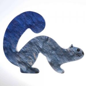 broche hermine bleu 1