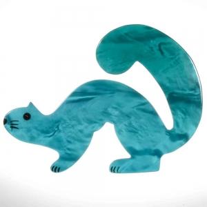 broche hermine turquoise 1