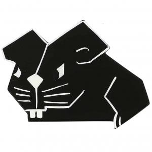 broche hors serie souris rectangle noire