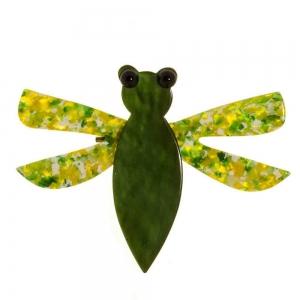 broche libelluel vert
