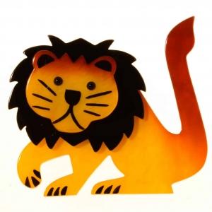 broche lion leo jaune 1